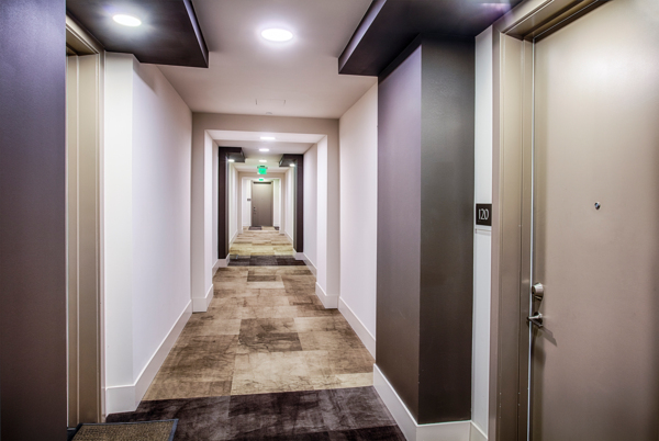 hallway at Raleigh at Sloans Lake Apartments