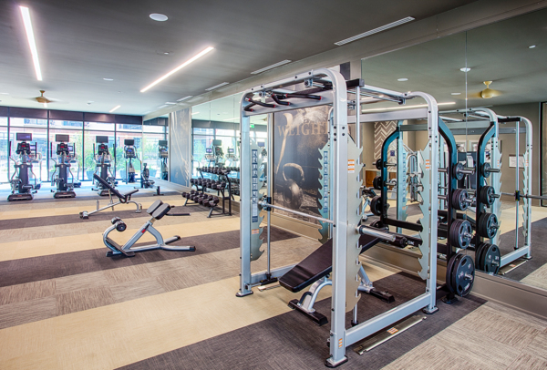 fitness center at Raleigh at Sloans Lake Apartments