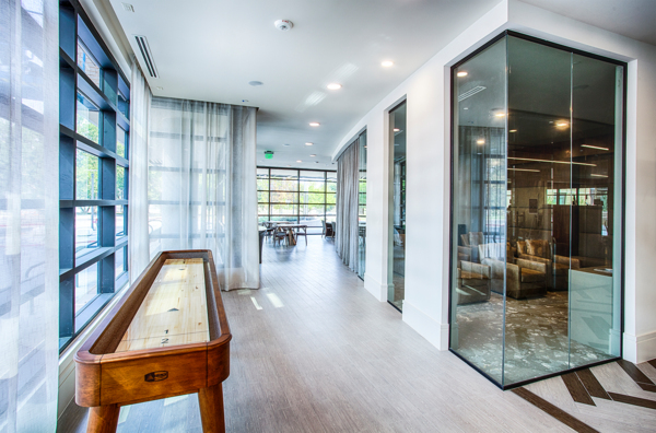 game room at Raleigh at Sloans Lake Apartments