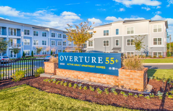 signage at Overture Centennial Apartments