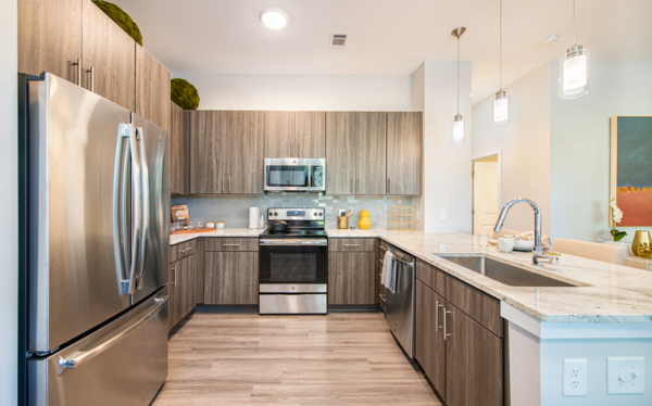 kitchen at Overture Centennial Apartments