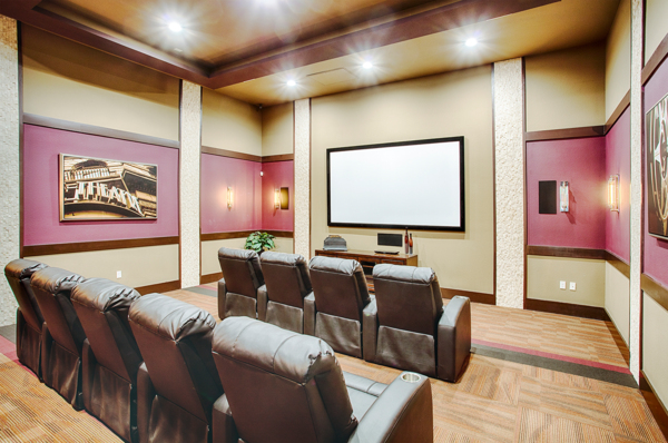 clubhouse theater at Rockrimmon Apartments