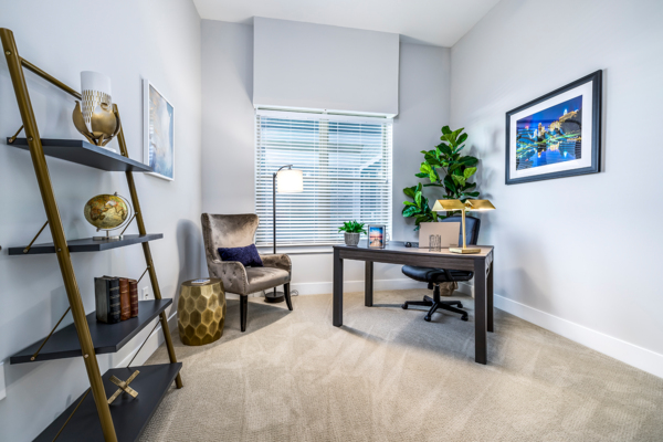 home office at Overture Providence Apartments