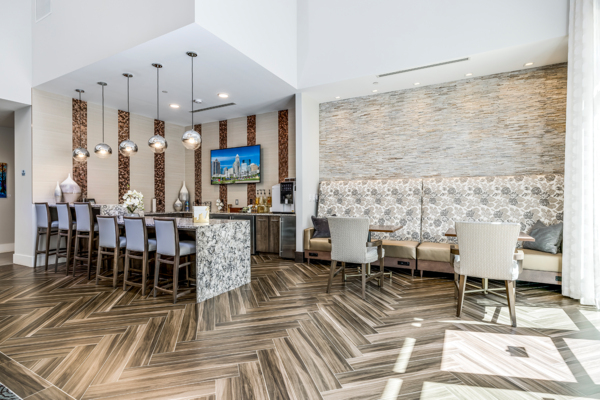 clubhouse/lobby at Overture Providence Apartments