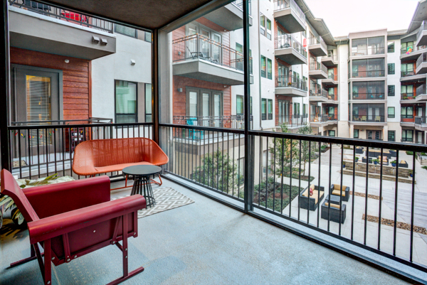 patio/balcony at The Kenzie at the Domain Apartments