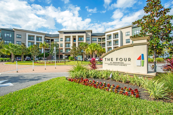 exterior at The Four at Deerwood Luxury Apartments