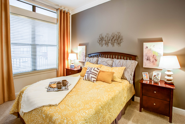 bedroom at The Four at Deerwood Luxury Apartments