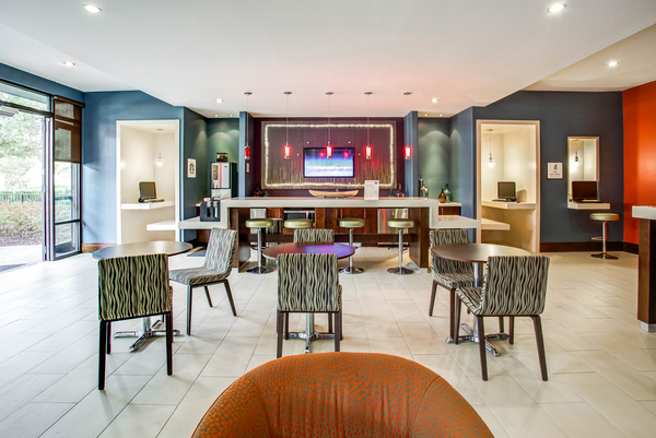 clubhouse at The Four at Deerwood Luxury Apartments