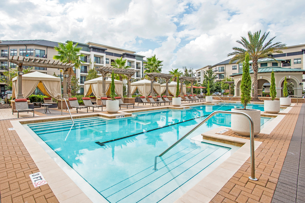 pool at The Four at Deerwood Luxury Apartments