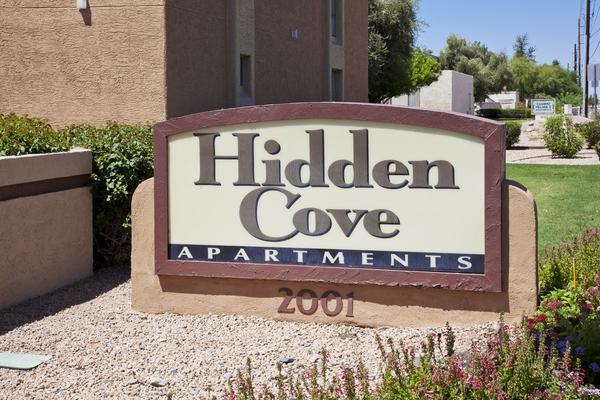 signage at Hidden Cove Apartments