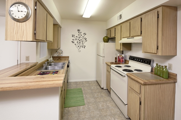 kitchen at Hidden Cove Apartments