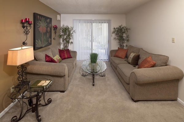 living room at Hidden Cove Apartments
