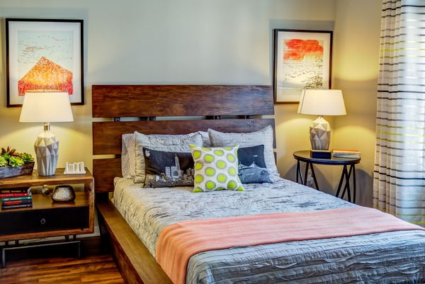 bedroom at Coldwater Luxury Apartments