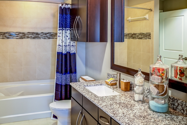 bathroom at Coldwater Luxury Apartments