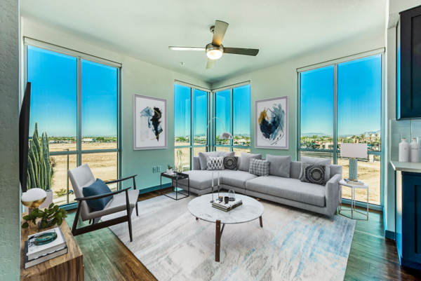 living room at Elevation San Tan Apartments