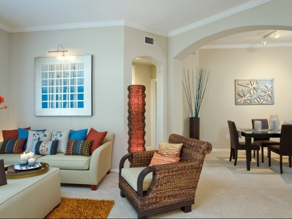 living room at Siena at Memorial Heights Apartments