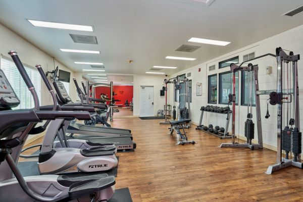 fitness center at Novi at Lowry Apartments