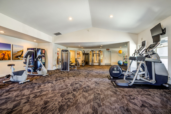 fitness center at Avana Star Lake Apartments