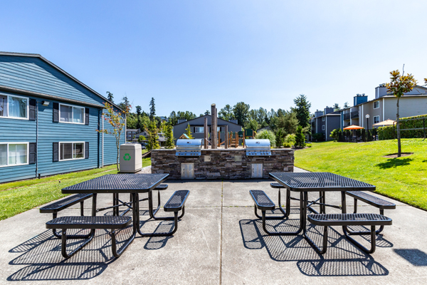 grill area at Avana Star Lake Apartments