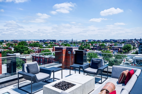 rooftop deck at The Louis Apartments