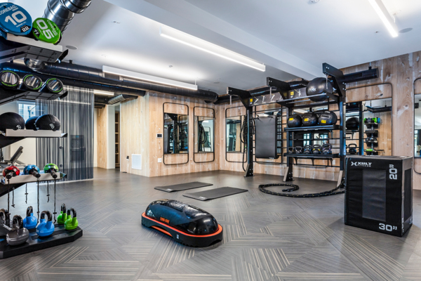 fitness center at Revela Apartments
