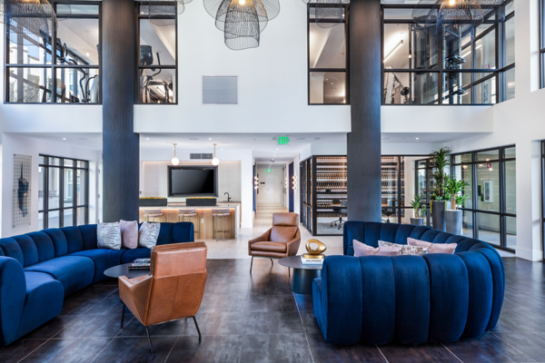 clubhouse/lobby at Revela Apartments