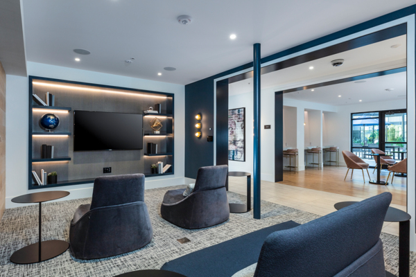 theater at Revela Apartments