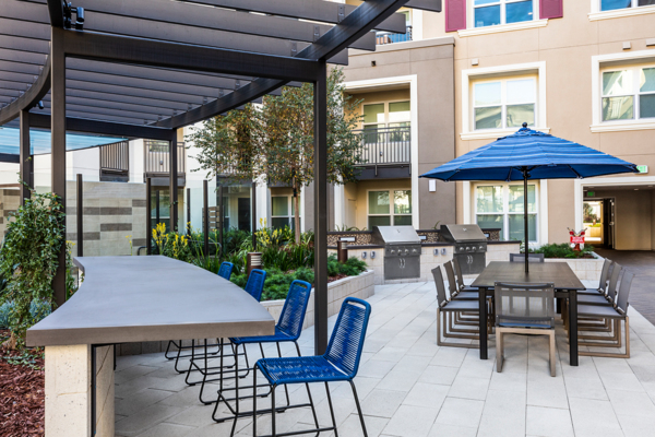 grill area at Revela Apartments