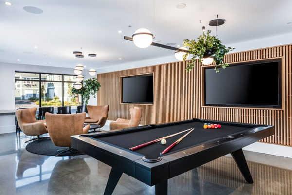 game room at Revela Apartments