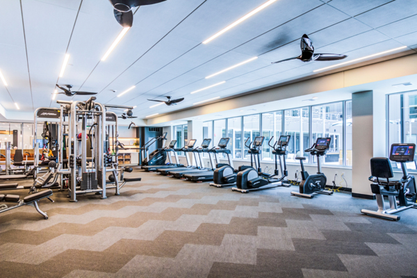 fitness center at The Fenley Apartments
