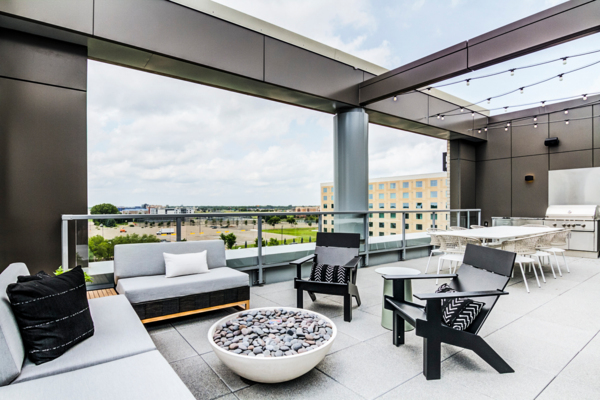 patio/balcony at The Fenley Apartments