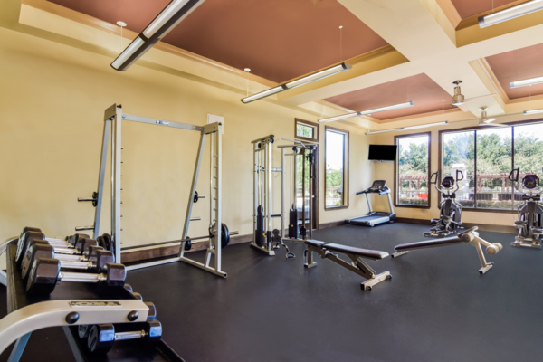 fitness center at Palm Valley Apartments