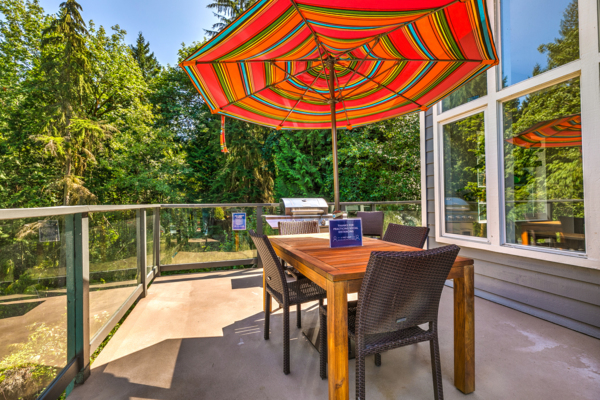 grill area at Lakemont Orchard Apartment Rentals