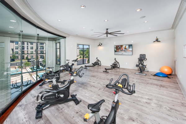 spin studio at View at Woodstock Apartments