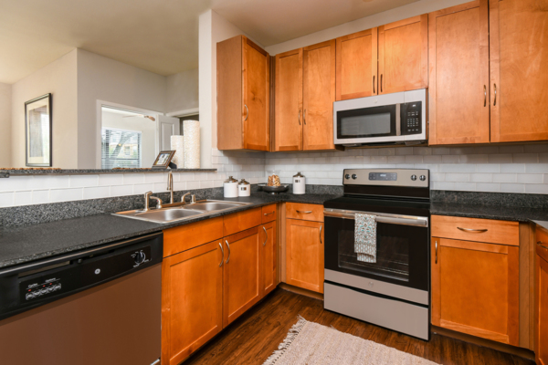kitchen at Soho Parkway Apartments