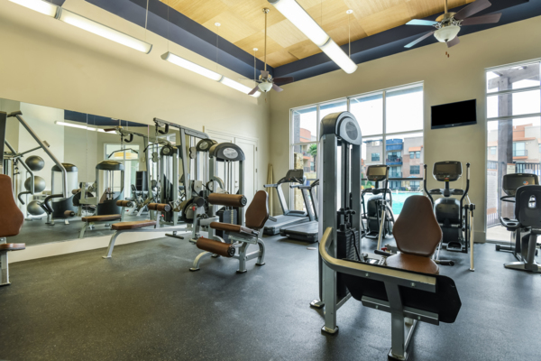fitness center at Soho Parkway Apartments