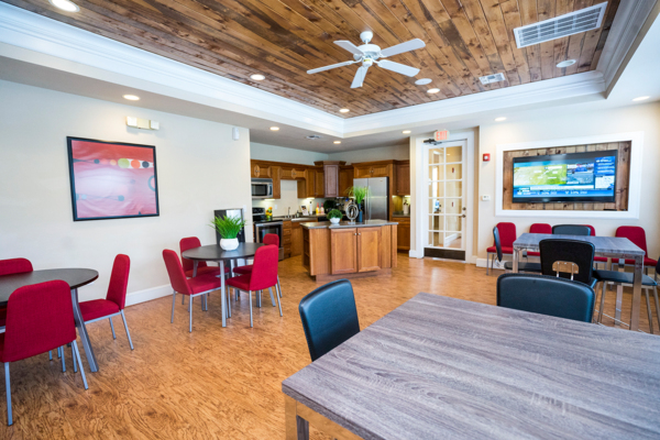 clubhouse kitchen at Northchase Village Apartments