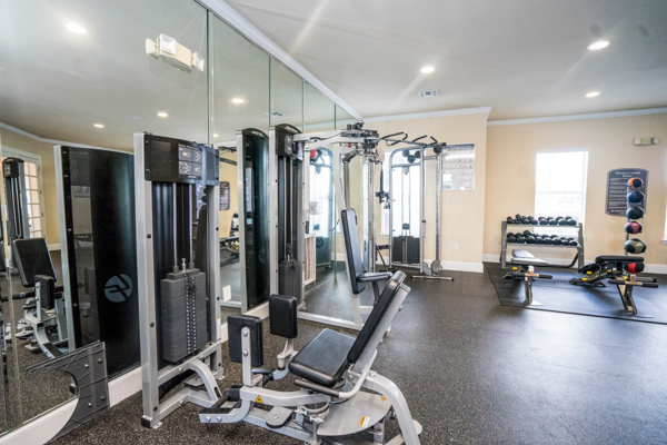 fitness center at Northchase Village Apartments
