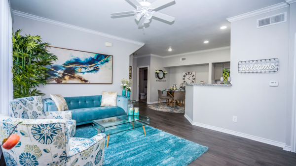 living room at Northchase Village Apartments