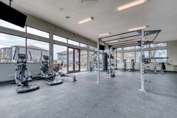 fitness center at Laurel Canyon Apartments