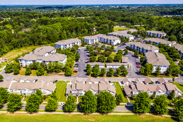 building/exterior aerial view at Avana Lake Norman Apartments