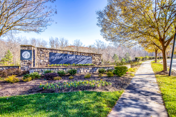 signage at Avana Lake Norman Apartments