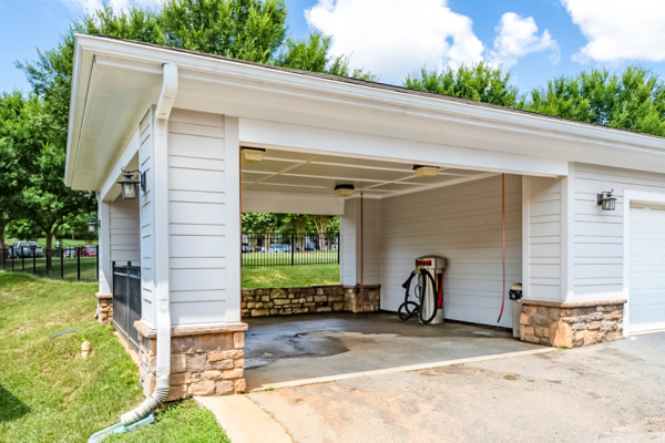 car wash station at Avana Lake Norman Apartments