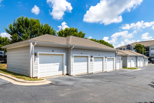 garage/covered parking at Avana Lake Norman Apartments