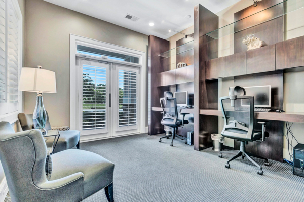 business center at Avana Lake Norman Apartments