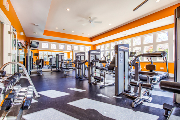 fitness center at Avana Lake Norman Apartments