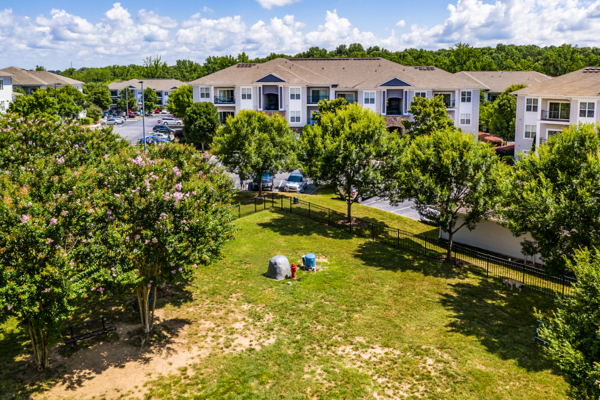 dog park at Avana Lake Norman Apartments