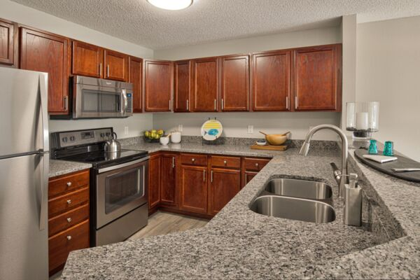 kitchen at Avana Addison Apartments