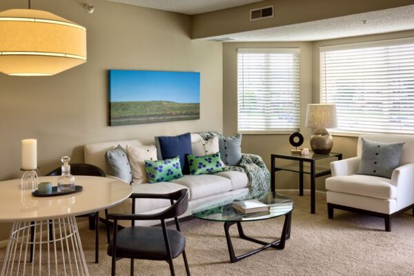 living room at Avana Addison Apartments