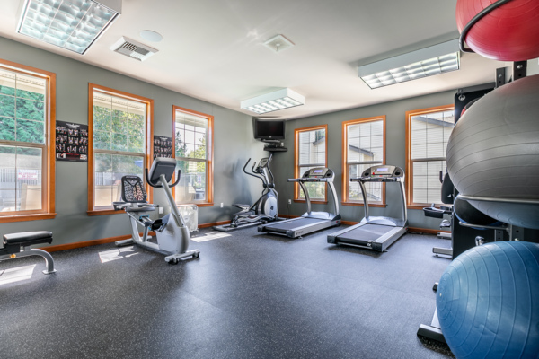 fitness center at Springbrook Apartments